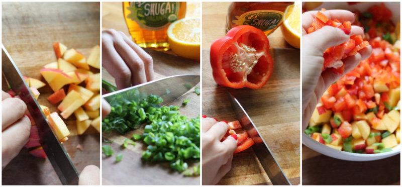 Nectarine Salsa       heyshuga.com #theSHUGAway