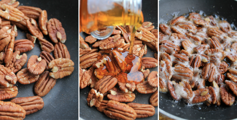 Caramelized Pecans on Baked Brie   |   #theSHUGAway